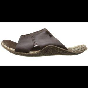 Mens CUSHE Argos Leather Slip-On Slides Sandals 9M
